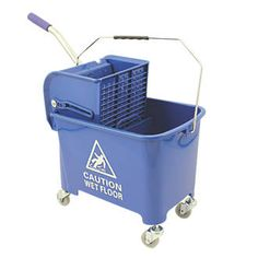 Screwfix Mobile Mop Bucket Blue 20Ltr 16577 Lightweight, durable mop bucket with 4 corner castors for excellent manoeuvrability. Features detachable press and separate clean and dirty water compartments. http://www.MightGet.com/january-2017-13/screwfix-mobile-mop-bucket-blue-20ltr-16577.asp