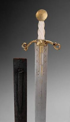 "armthearmour: ""A ceremonial sword of the Hungarian Society of the Dragon, owned by Emperor Sigismund I, made in North Italy, ca. housed at the Kunsthistorisches Museum. Katana, Swords And Daggers, Knives And Swords, Kunsthistorisches Museum Wien, Medieval Weapons, Arm Armor, Kaiser, Dark Ages, Medieval Fantasy"