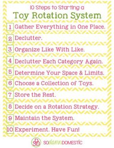 How to get started with a toy rotation system - Tons of practical advice and tips, plus 10 steps to starting a system from scratch (AND a printable checklist). | organizing the play room | organizing kids toys | how to start a toy rotation system | playroom organization tips | how to declutter kids toys || Joyful Abode