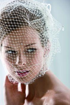 Braut mit Birdcage