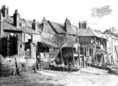 A row of houses on the south bank of the Thames at Lambeth, circa Picture: GETTY Fascinating early photographs of London Victorian Street, Victorian Life, Victorian London, Vintage London, Old London, South London, London Pictures, London Photos, Old Pictures