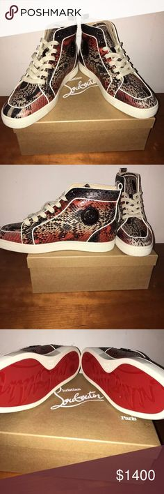 Christian Louboutin Men's Sneakers Brand new pair of unique Christian Louboutin Rantus Orlanto Flat Python Atlantic!!!! This item includes original box and extra pair of laces. Very exclusive pair of shoes!!! These run small so make sure they are your size. Size 45.5 (11.5 in US). Price is negotiable Christian Louboutin Shoes Athletic Shoes