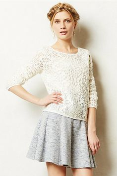 Slip Stitch Pullover #anthropologie