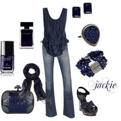 <3 LOVE <3  Dress up your jeans....blue, created by jackijons on Polyvore