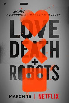 Love, Death & Robots is a new science-fiction animation anthology premiering on Netflix on the of March. Produced by Tim Miller (Deadpool) and [. David Fincher, Seven 1995, Happy Tree Friends, Deadpool, David Lynch, Waltz With Bashir, Teen Titans, Science Fiction, Dungeons E Dragons