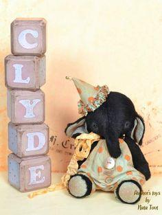 Teddy elephant Clyde by By Nata Tovt   Bear Pile