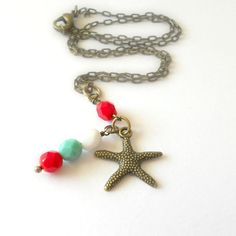 Childrens Jewelry  Beach Girl Starfish by theblackstarboutique, $21.50