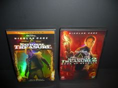 National Treasure 1 & 2 Dvd Lot Disney  Nicolas Cage