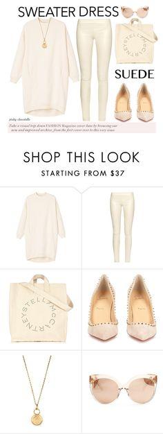"""#172 Warm Up - Long-Sleeve Dresses: 11/11/15 (WGC)"" by pinky-chocolatte ❤ liked on Polyvore featuring Monki, The Row, STELLA McCARTNEY, Christian Louboutin, Aurélie Bidermann and Linda Farrow"