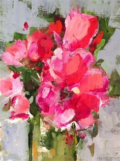 """Daily+Paintworks+-+""""Pink+Passion""""+-+Original+Fine+Art+for+Sale+-+©+Molly+Wright"""