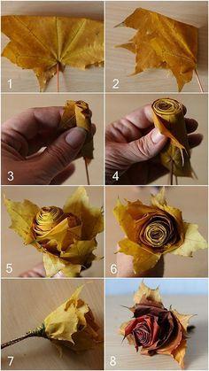 roses garden care Best 12 Rosas de folhas de bordo e deixa gladolos. Autumn Crafts, Nature Crafts, Home Crafts, Diy And Crafts, Christmas Crafts, Crafts For Kids, Arts And Crafts, Leaf Crafts, Flower Crafts