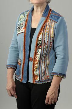 Genesis Plus Talking Pattern from Londa - Starts with a sweatshirt, lower band used for jacket left front finish + jeans