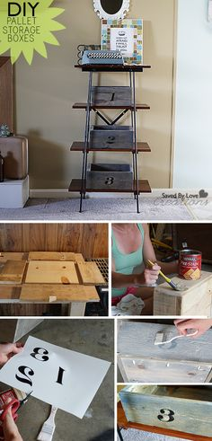 How to recycle old pallets into DIY storage boxes #rustic #reclaimed #upcycle @savedbyloves