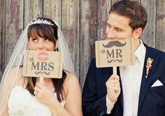 花嫁は唇。花婿はヒゲ。