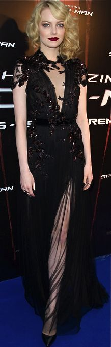 Girl crush: Emma Stone y su estilo cool Emma Stone Style, Celebrity Dresses, Celebrity Style, Emma Stone Red Carpet, Beautiful Dresses, Nice Dresses, Dresses 2013, Gorgeous Dress, Cheap Dresses