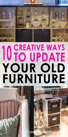 Love these DIY furniture makeover ideas! These tutorials have some easy ways to update an old wood table, armoire or dresser. #FurnitureMakeover #DIYFurnitureMakeover