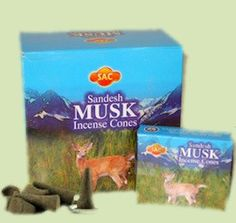 Musk Incense Hand rolled Musk Incense Cones by the Sandesh Agarbathi Conpany in India. Their incense consists mainly of natural forest products and natural oils (approximately The result is that this incense is environmently frie
