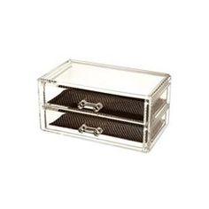 Boîte à bijoux - Acrylique transparent - 2 tiroirs