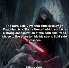 Is that why Luke is living next to the hole of evil on his little island full of Porgs in The Last Jedi?