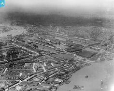 West India Docks, Isle of Dogs, from the south-east, 1921