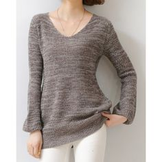 $18.56 Casual V-Neck Long Sleeve Slimming Women's Sweater