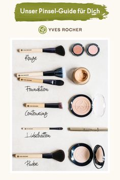 Ob Blush, Foundation oder Lidschatten - jedes Produkt hat seine eigene Textur un. Whether blush, foundation or eye shadow - each product has its own texture and therefore also needs the right brush. Contour Makeup, Lip Makeup, Makeup Tricks, Makeup Ideas, Makeup Wallpaper, Concealer, Foundation, Makeup Order, Eyeliner