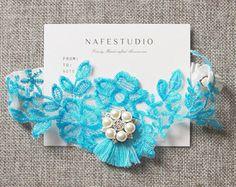 Blue Garter Bridal Garter Wedding Garter Lace Garter