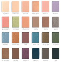 Some of the amazing mineral eye shadow colors that Mary Kay offers. These shadows last all day and are really good in quality.