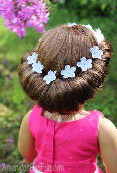 Doll Hairstyle: Headband Tuck Bun!