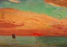 Fujishima Takeji (1867-1943) Sunrise over the Eastern Sea, 1932