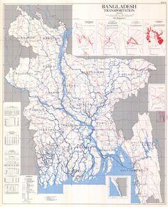 Bangladesh Transportation Map 1971