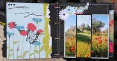Le kit de la Fée du scrap est composé d'un album, de papiers Scénic route, Bazzil, de planches d'embellissements, de perles de pluie , de rubans ........ toujours parfaitement coordonnés. J'ai associé quelques tampons certains sont imprimés avec de la...