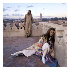 Vogue - January 1970 - Talitha and Paul Getty, Jr. in Morocco, photographed by Lichfield Patrick