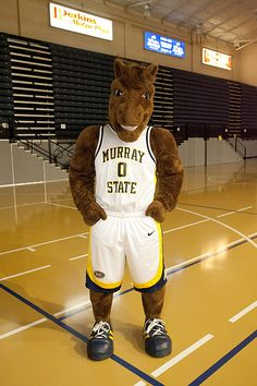 Murray State Racers mascot, Dunker the Horse.