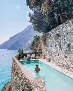 Who needs infinity pools when you have cliffside Positano, Italy – pool ideas Oh The Places You'll Go, Places To Travel, Travel Destinations, Infinity Pools, Travel And Leisure, Amalfi Coast, Luxury Travel, Dream Vacations, Italy Travel