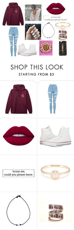 """""""Anti-social social club"""" by delaney51504 ❤ liked on Polyvore featuring Topshop, Lime Crime, Converse and Nikki Strange"""