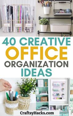 These organizing office ideas are great for organizing desk. These organization tips will help you become more productive. #organization #organizing #organize Office Supply Organization, Home Office Organization, Organizing Your Home, Organization Ideas, Organizing Tips, Organize Office Supplies, Organizing Ideas For Office, Organized Office, Paper Tray Organizer