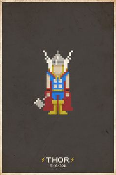 Heróis em Pixel Art…