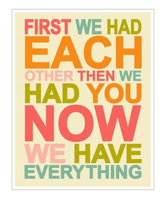 Take a look at this Pink & Green 'Now We Have Everything' Giclée Print by Finny and Zook on #zulily today!