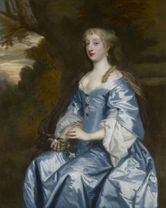Studio of Sir Peter Lely: A lady, possibly Bridget Cockayne, wife of the Rev. Hon, John Feilding, painted circa 1670, oil on Canvas