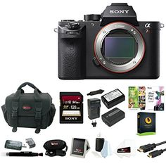Sony Alpha a7RII Mirrorless Digital Camera (Body) with 128GB Deluxe Accessory Bundle