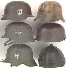 military helmets - Google Search Military Gear, Military Uniforms, Military History, Ww1 Helmet, Army Helmet, Late Modern Period, German Helmet, German Uniforms, Military Figures