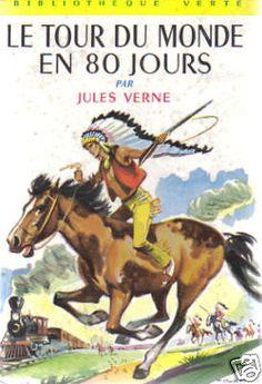 TOUR DU MONDE EN 80 JOURS Bibliothèque Verte 1971 BE