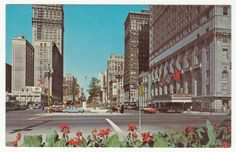 Postcards - United States # 72 - Washington Boulevard, Detroit, Michigan