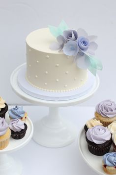 Frosted Wedding Cake