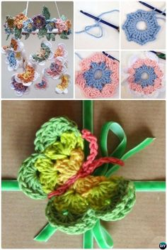 Crochet 3D Butterfly Chandelier Free Pattern