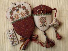 Beautiful needle keep Cross Stitching, Cross Stitch Embroidery, Hand Embroidery, Cross Stitch Patterns, Embroidery Designs, Fall Cross Stitch, Cross Stitch Finishing, Stitch Book, Needlepoint Kits