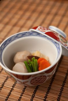 Japan. Satoimo Yam with Tofu Skin (Yuba) Cooked in Dashi Stock, Japanese Home Dish|里芋と湯葉の含め煮