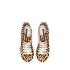Image 2 of LEOPARD PRINT SNEAKERS WITH STUDS from Zara