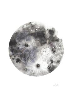 A print of my original watercolor piece of the beautiful and glorious Moon printed on 100# HQ matte poster paper OR you have the option to print on Fine Art Textured Watercolor Paper to give the illus